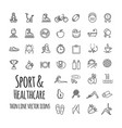 sports sports equipment healthy lifestyle icons vector image