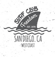 Set of Surf club concept vector image