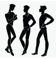 three handsome men vector image