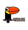Toucan icon vector image vector image