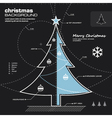 Christmas tree infographic design vector image vector image