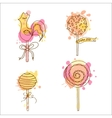 candy Set of 4 hand drawn vector image