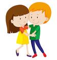 Man and woman dancing and hugging vector image