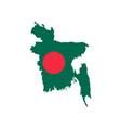 bangladesh map and flag vector image