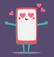 Cute Cell Phone Crazy in Love vector image