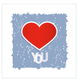 I Love You Theme With Red Heart Made From Paper vector image