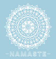 Mandala namaste vector image