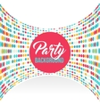 Multicolored dot background for disco party poster vector image