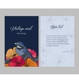 -sided postcard with a floral pattern vector image