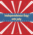 american independence day 4 th julygreeting card vector image