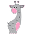 Cute cartoon isolated fabric animal Giraffe vector image vector image