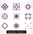 Business symbols icon set Geometric concept vector image vector image