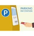 Parking pay station vector image