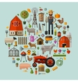 farm in the village A set of elements - house vector image