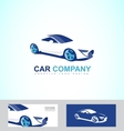 Sports fast race car logo vector image