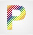 Alphabet Letter P vector image