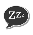 bubble speech sleep design vector image