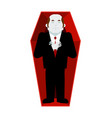 dead man in coffin isolated corpse in casket on vector image