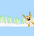 deer in the winter forest vector image