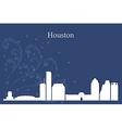 Houston city skyline on blue background vector image
