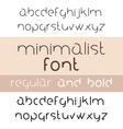Minimalist Font Bold And Regular Minimalism Style vector image