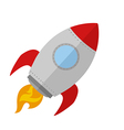 Retro Rocket Ship Design vector image