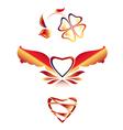 Set beautiful icons Hearts vector image