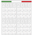 Set of Italian 2015 2016 2017 2018 calendars vector image