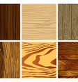 Set of wooden seamless pattern vector image