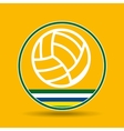 volleyball sport badge icon vector image