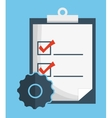 check list document planner mark icon vector image