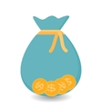 Bag with four Gold Coins - Contribution to Futura vector image