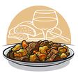 beef stew vector image vector image