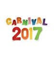 Colorful handmade text carnival 2017 on white vector image