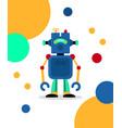 blue robot card vector image