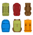 camping backpacks icon vector image vector image