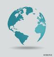 Modern world globe vector image