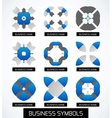 Business symbols icon set Geometric concept vector image vector image