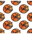 Seamless cartoon basketball ball repeating vector image vector image