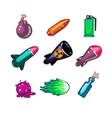 Weapon and Bombs Icons Set vector image