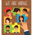 Human resources recruiting concept vector image