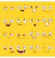 Cartoon faces with different expressions vector image