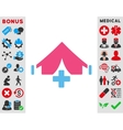 Filed Hospital Icon vector image