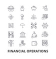 financial operations finance planning services vector image