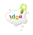 Speech Bubble And Lamp vector image