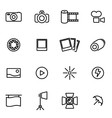 thin line icons - photo vector image