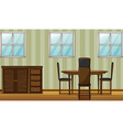 A dinning table and wardrobe vector image vector image