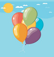 air balloon in the sky in flat design vector image