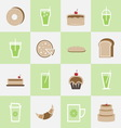 Set of bakery and lemonade elements for coffee vector image