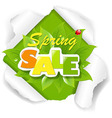 Green Torn Paper Sale Poster vector image